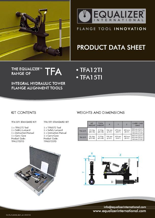 Flanschausrichter Flanschwerkzeug für Windkraftanlagen Windräder TFA15TI